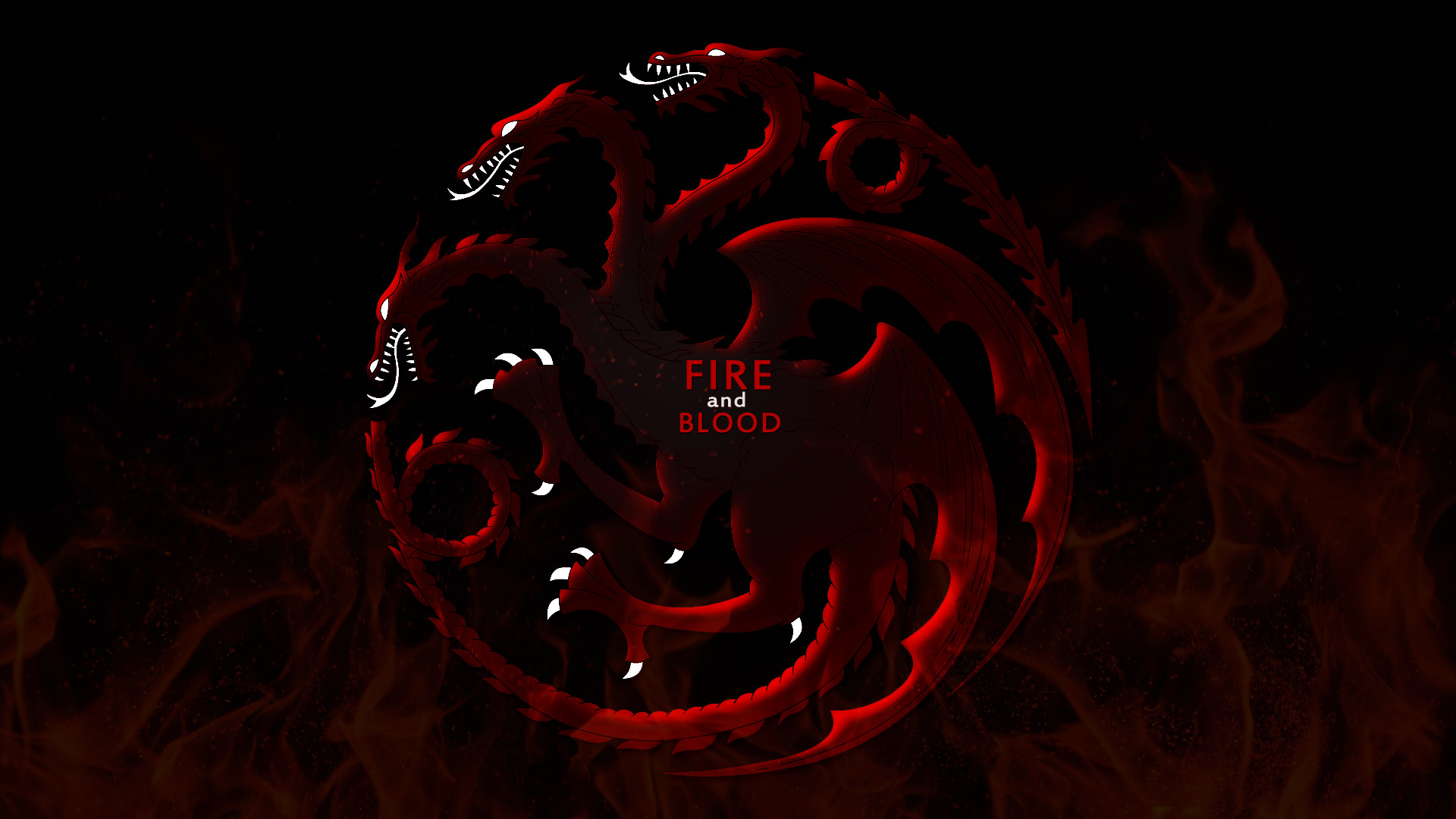 House Targaryen Wallpaper- The Three Headed Dragon by .