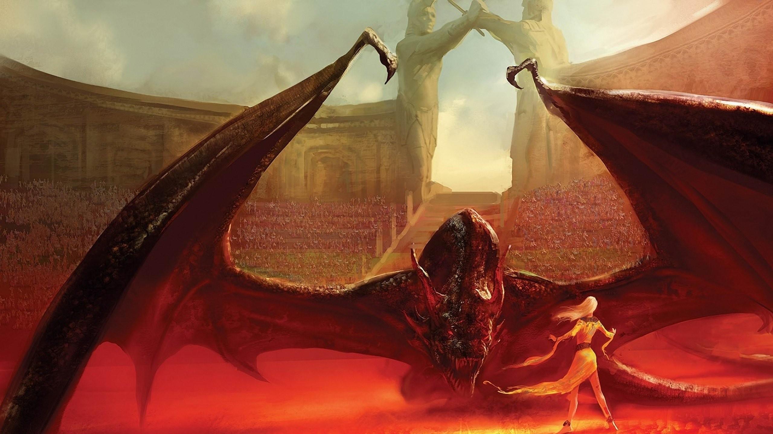Dragons fantasy art Game of Thrones Daenerys Targaryen House Targaryen  wallpaper | | 299113 | WallpaperUP