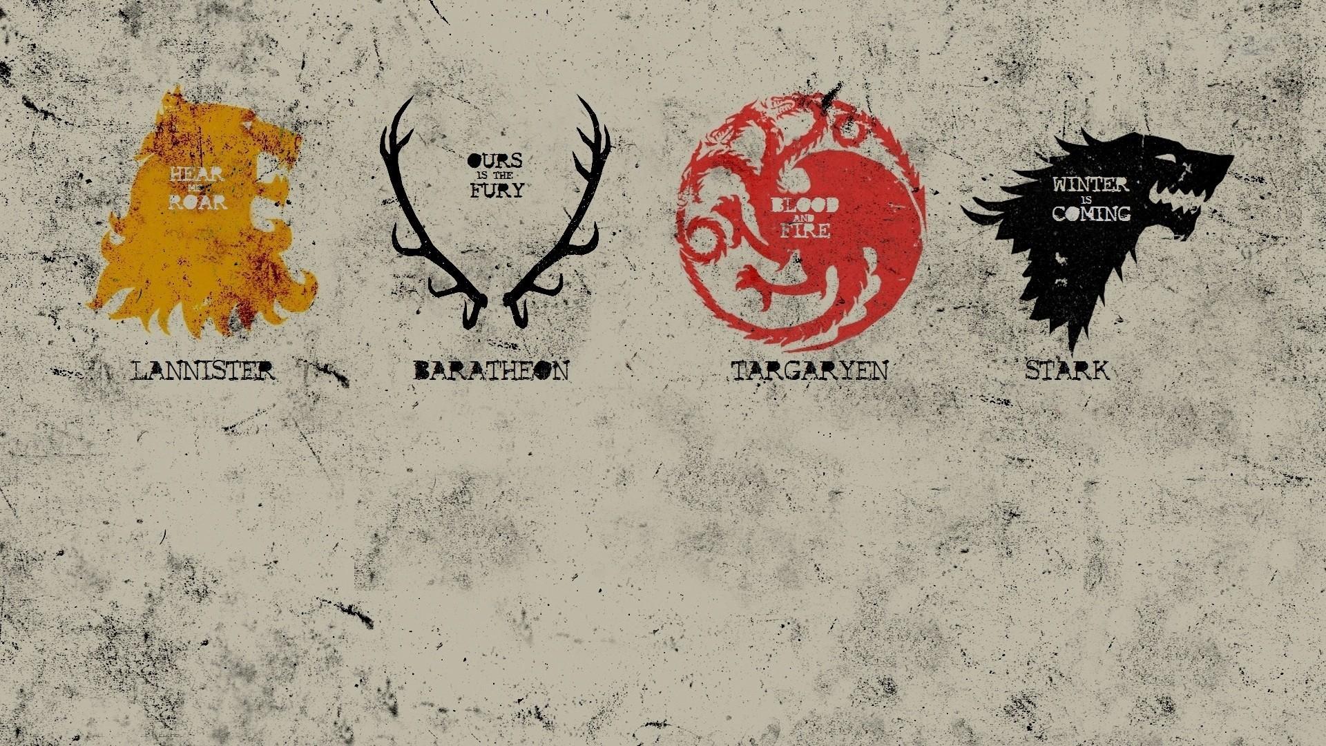 Game Of Thrones, House Stark, House Targaryen, House Lannister, House  Baratheon, Sigils Wallpapers HD / Desktop and Mobile Backgrounds