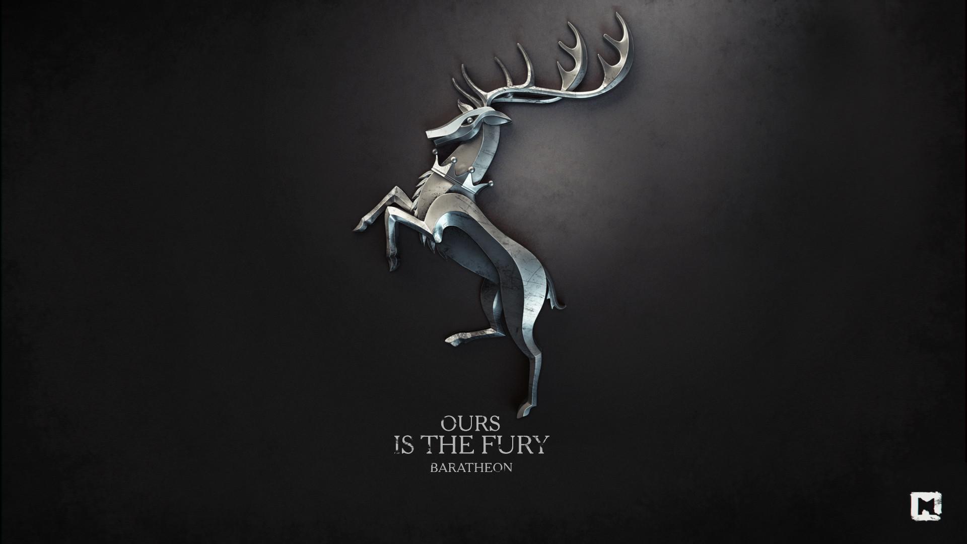Fury Game of Thrones House Baratheon Melaamory / Wallpaper