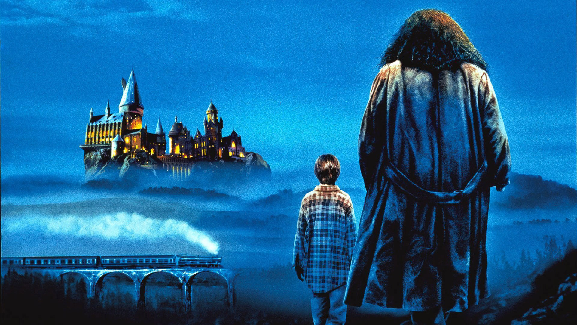 Harry Potter and Hagrid wallpaper