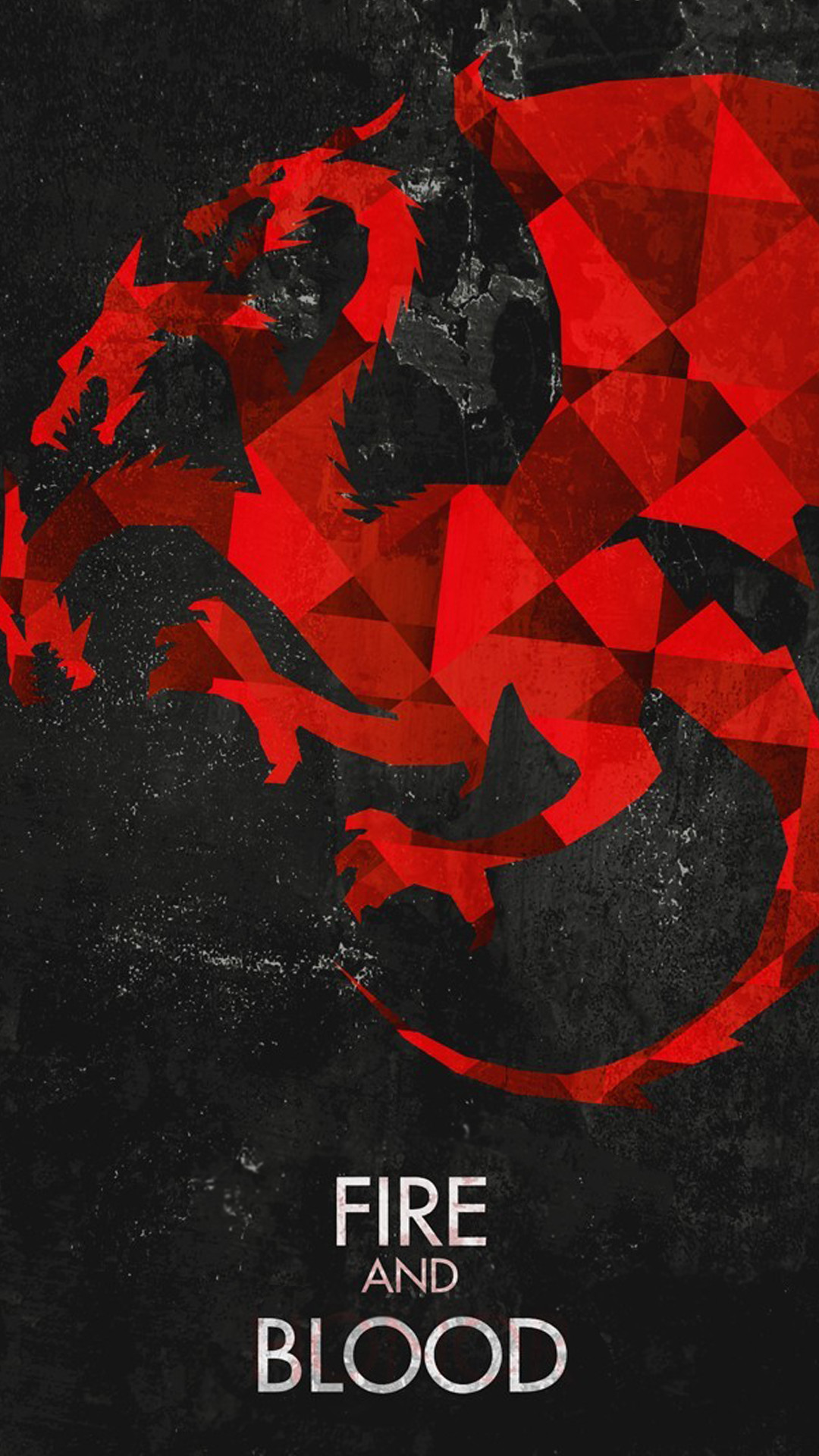 Fire And Blood Game Of Thrones House Targaryen Dragons Android Wallpaper.jpg  (1080×