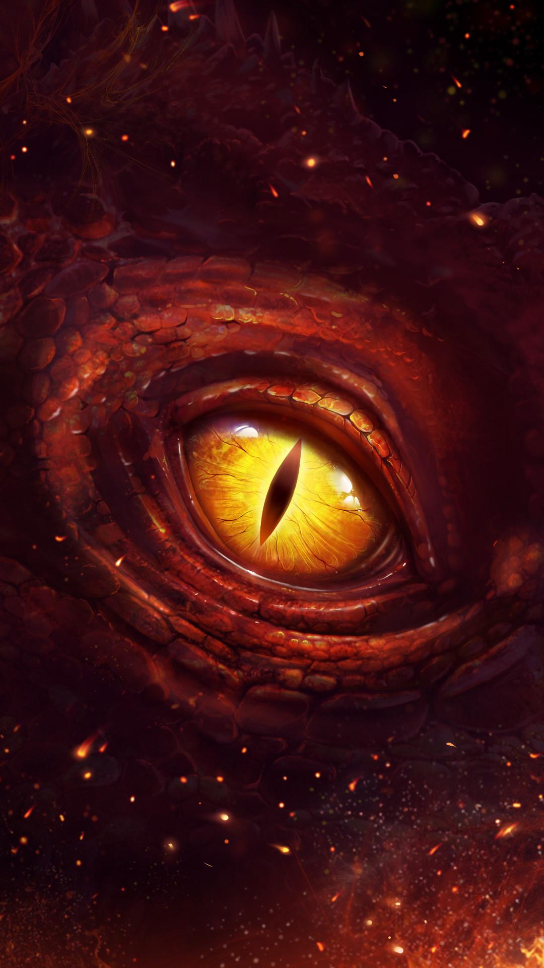 Horrible dragon eye wallpaper!