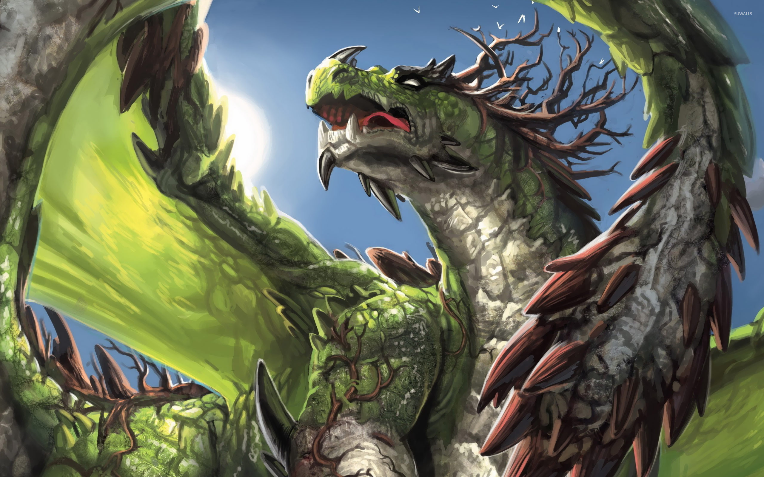 Green dragon wallpaper jpg