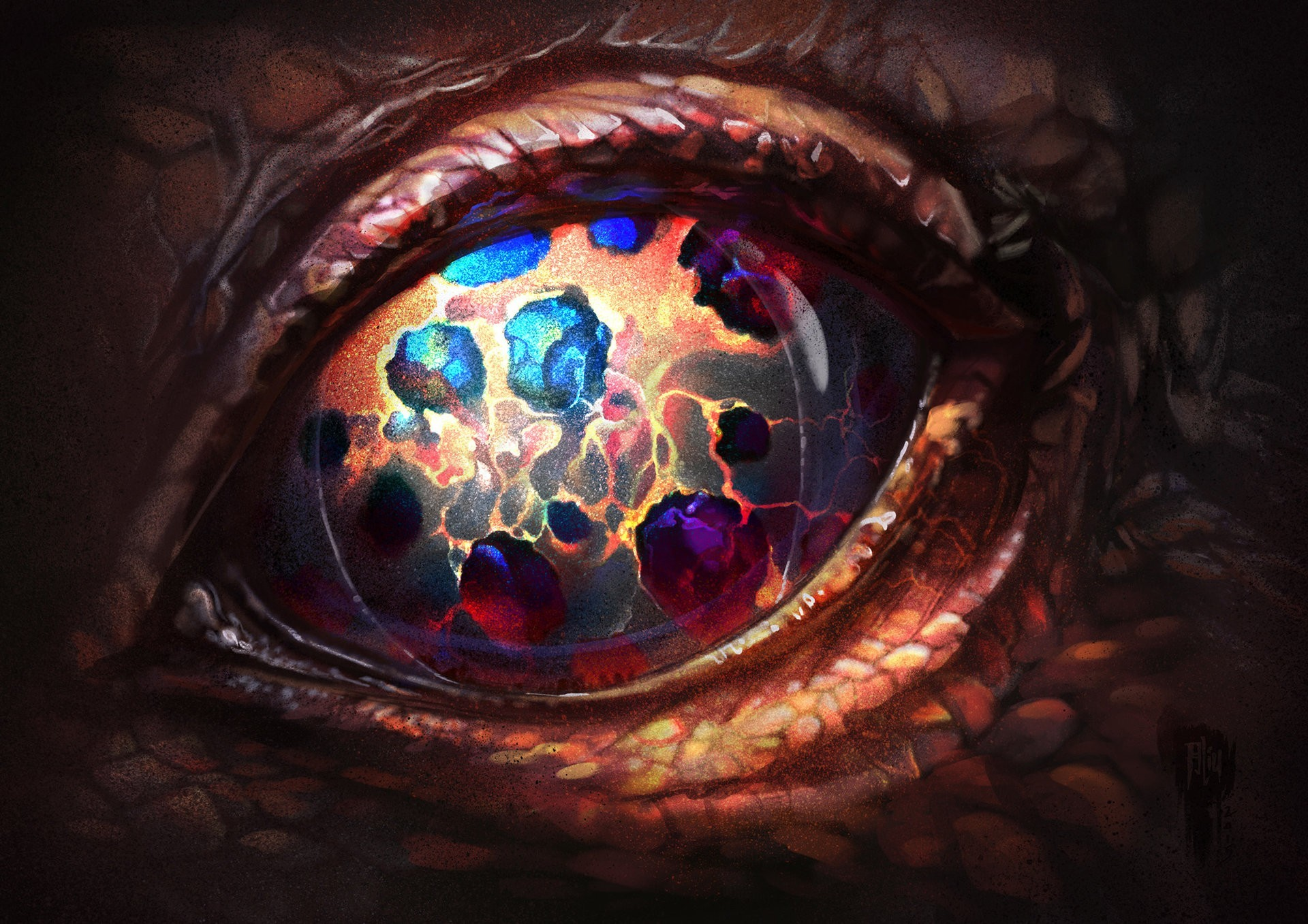eyes, Dragon, Artwork, Fantasy art, Colorful Wallpapers HD / Desktop and  Mobile Backgrounds