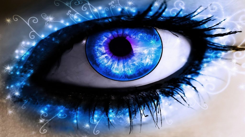Blue-Abstract -Eyes -Wallpaper-hd-free