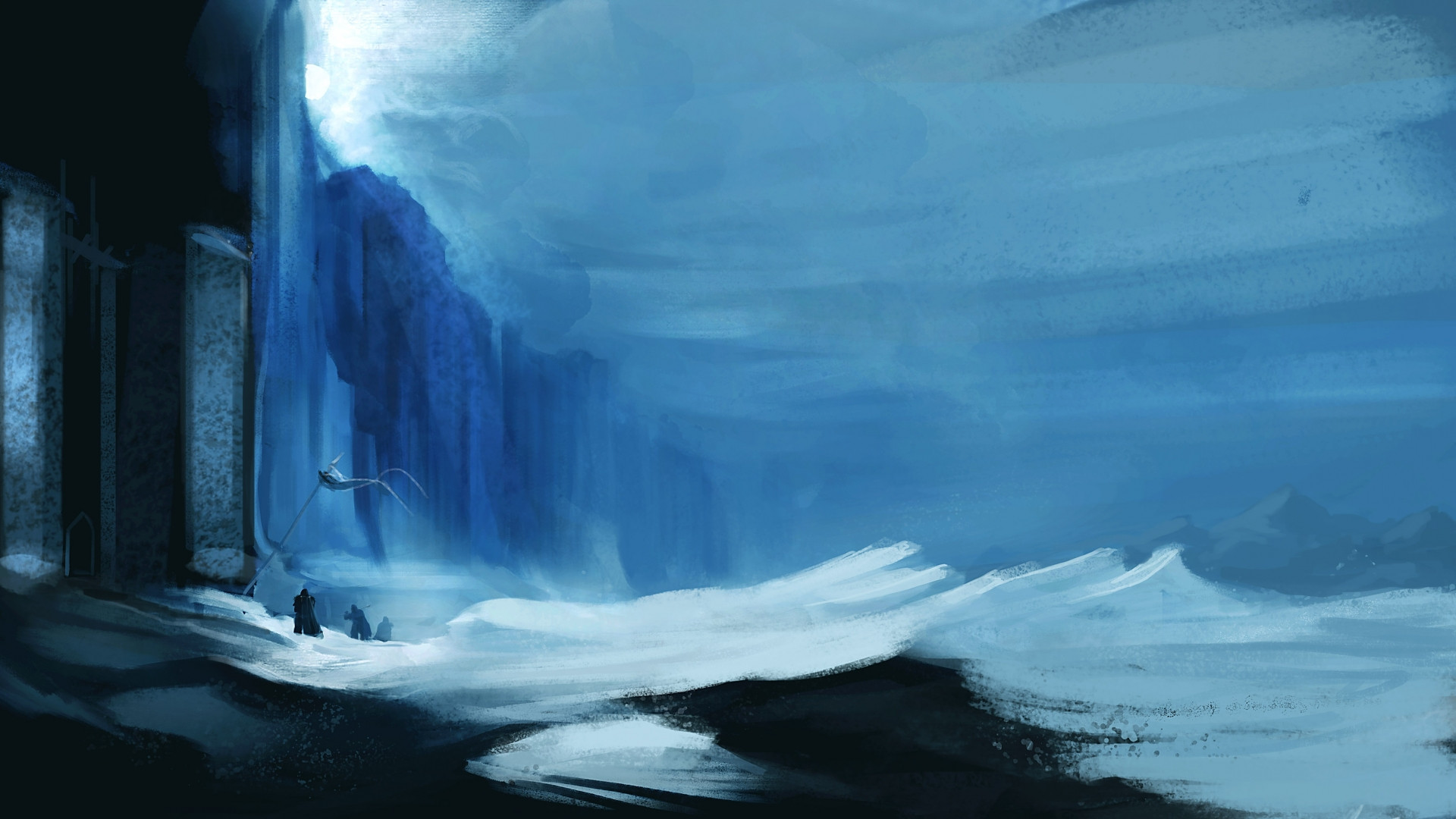 … painting of the Wall …