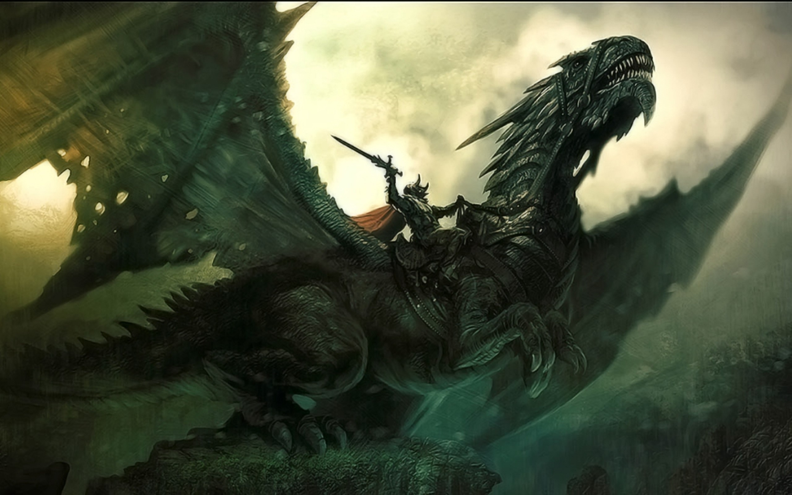 Fantasy Dragon Warrior Picture Wallpaper