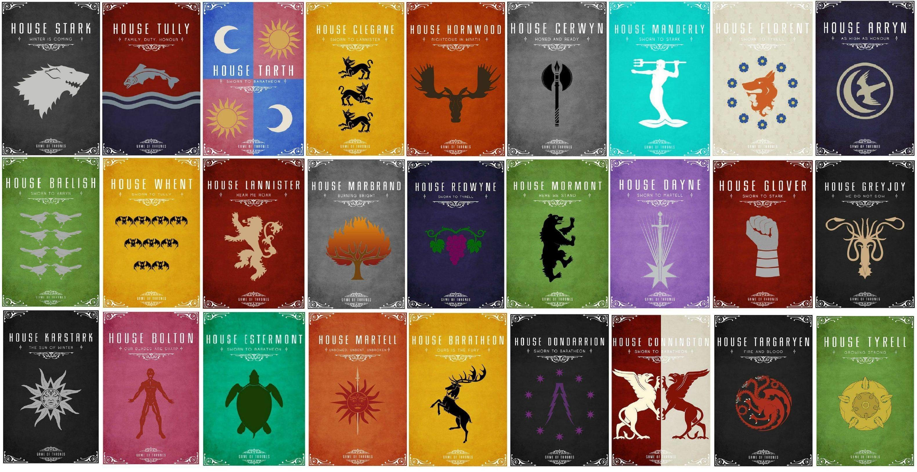 (No Spoilers) I thought you guys might appreciate this. Wallpaper with  house sigils and words. (x-post from /r/wallpapers) …