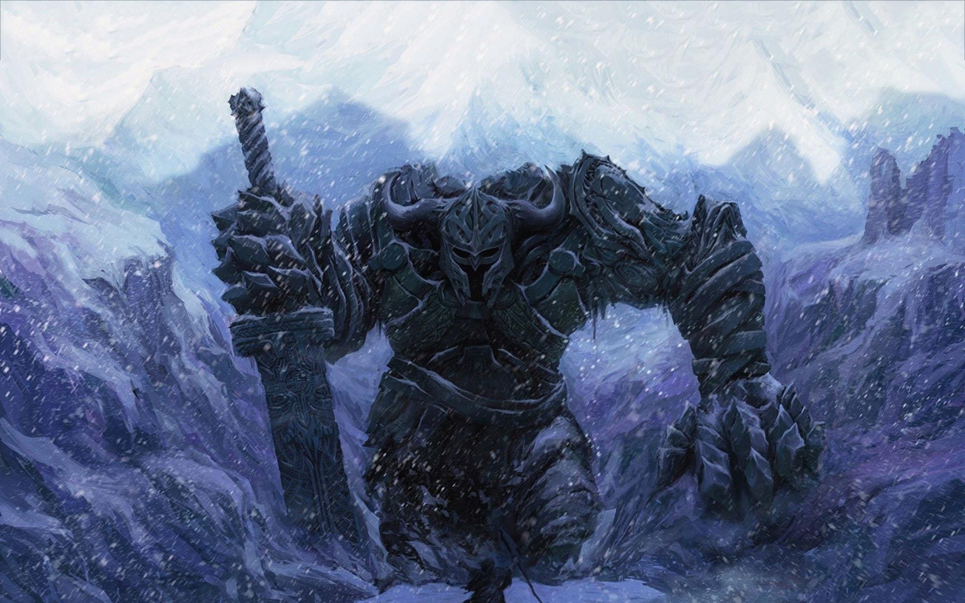 Huge fantasy warrior