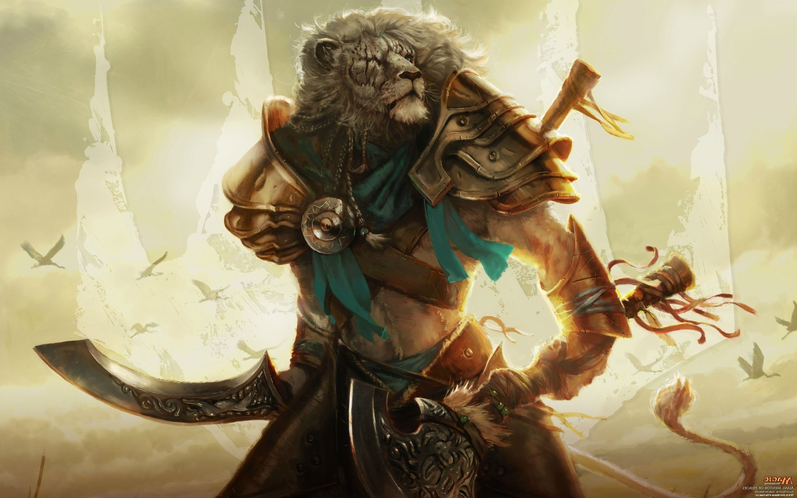 pictures of fantasy cats Fantasy feline warrior Wallpapers