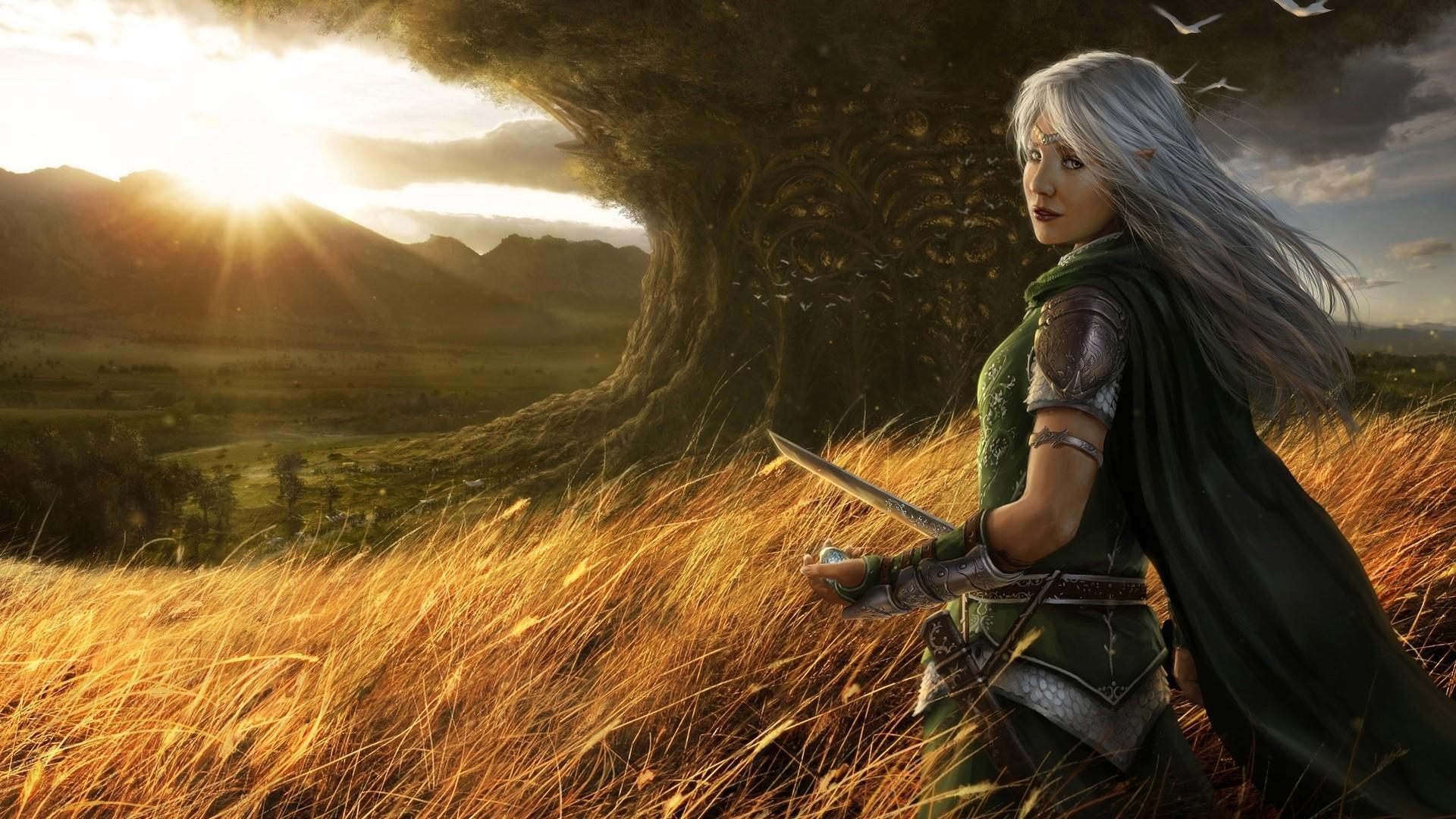 Free women warrior wallpaper background