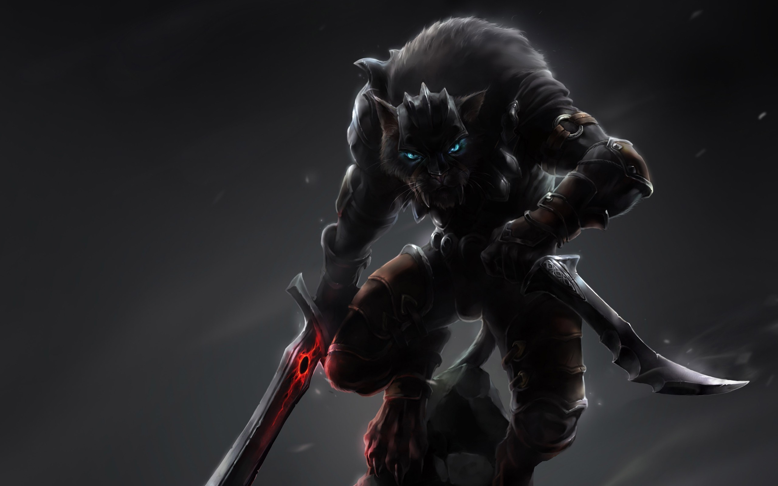 pictures of fantasy cats   Fantasy feline warrior Wallpapers Pictures  Photos Images