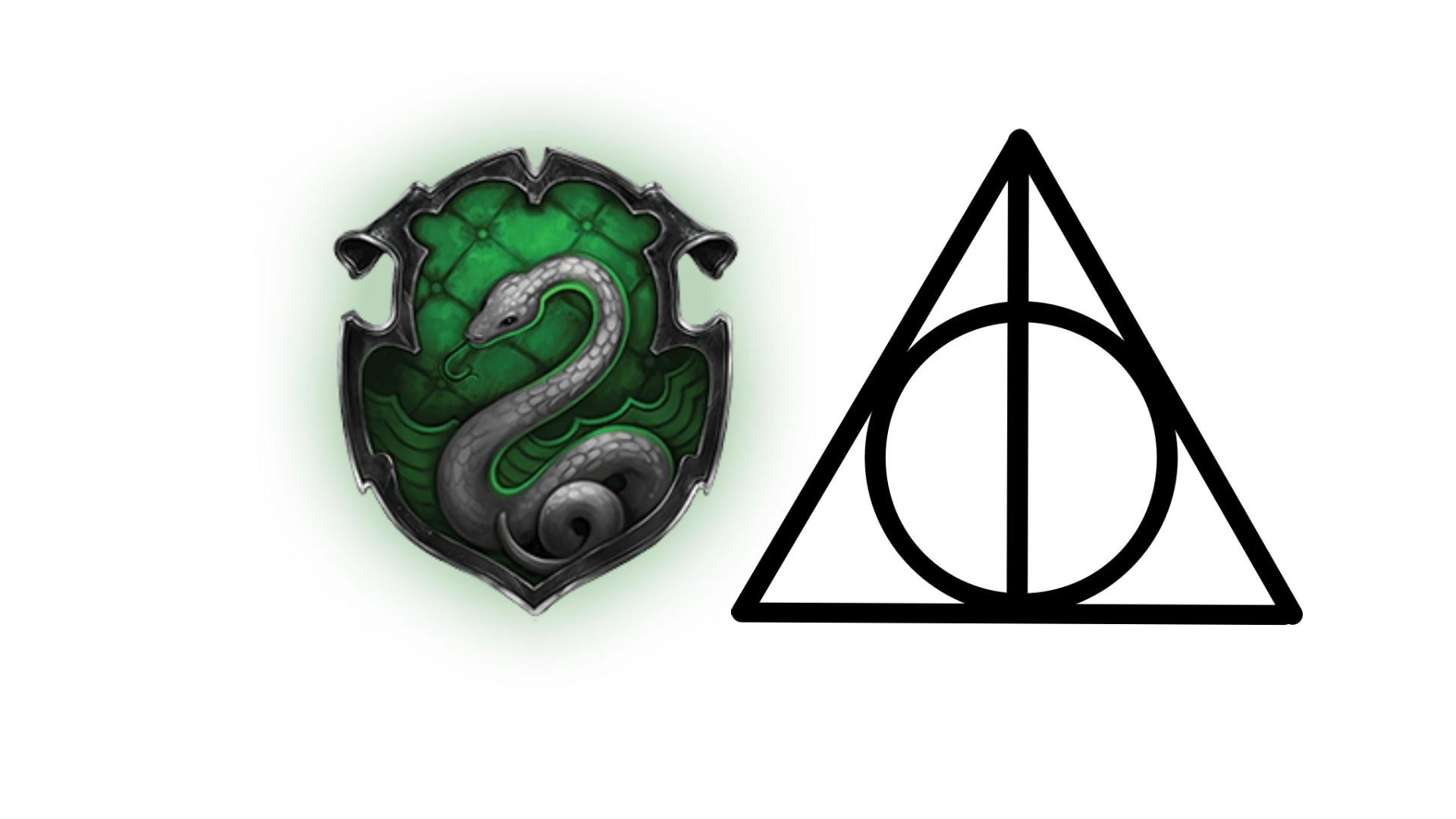 Minecraft Pixel Art Tutorial | Slytherin Deathly Hallows Logo (Harry Potter)