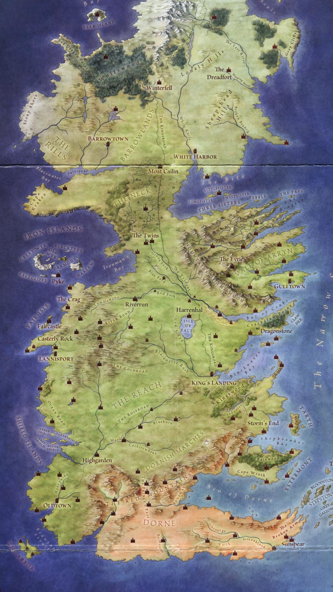 84 Map Of Westeros