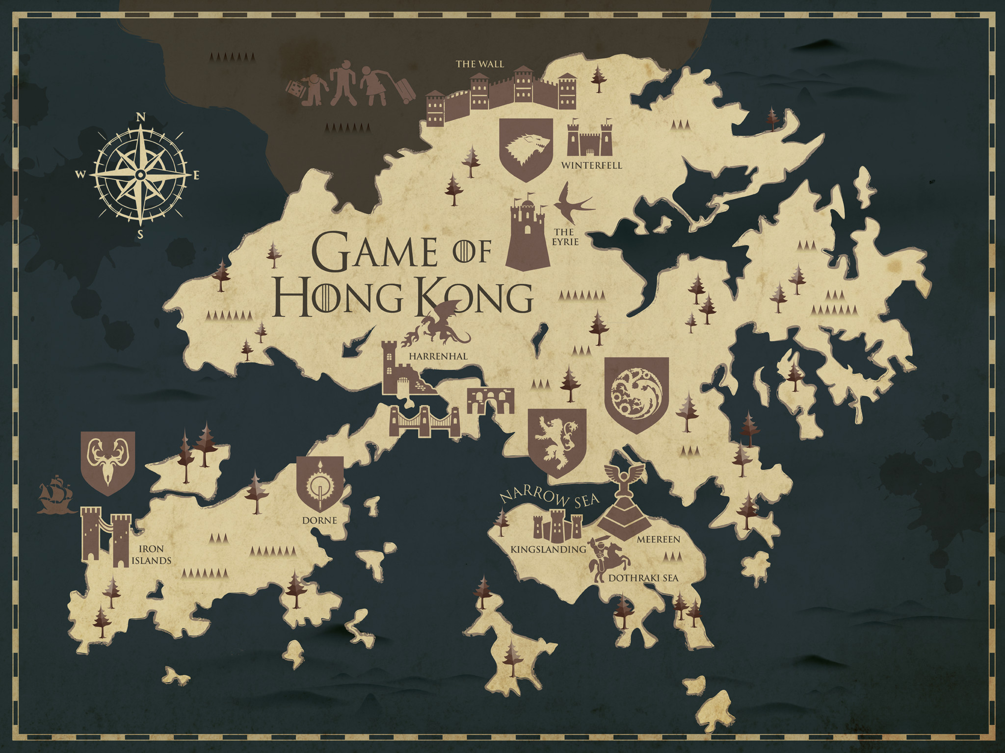 … match those featured in A Song of Ice and Fire. Here's what we came up  with… (And for a hi-res version of our map, made by our wonderful house  elves …