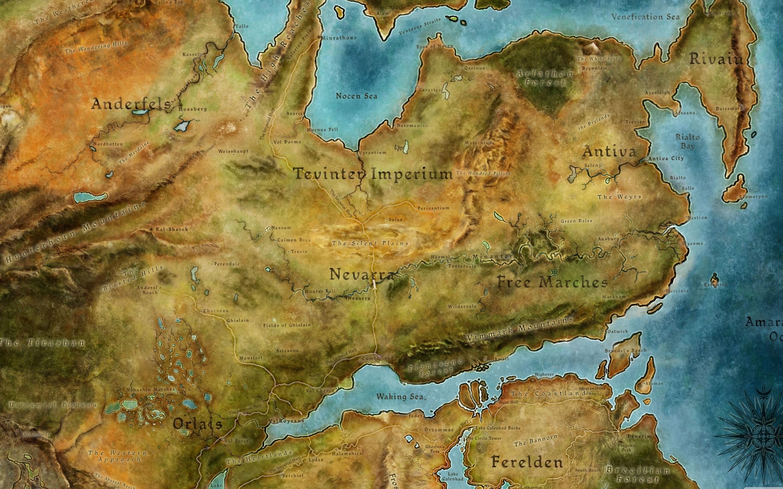 Dragon Age 2 Map Mac wallpaper