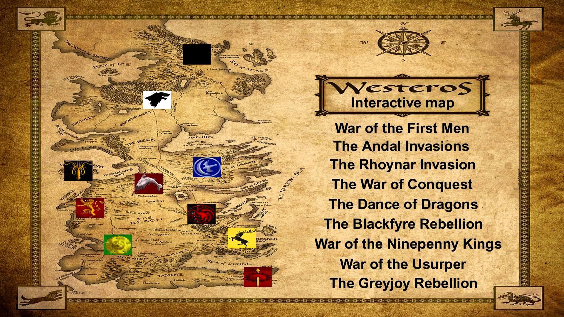 Westeros Lore: Interactive Map