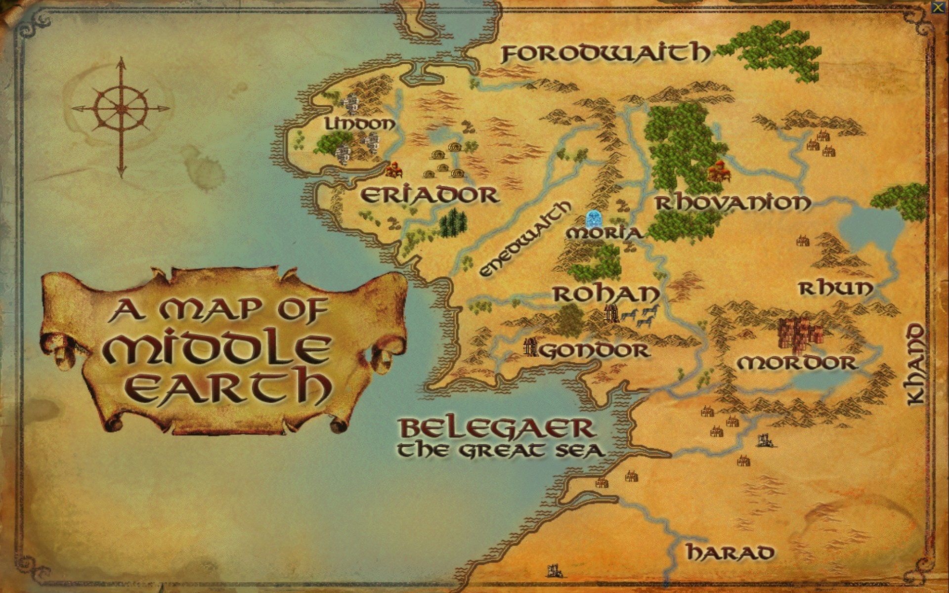 lord of the rings – What is in the east of Middle-Earth, and why .