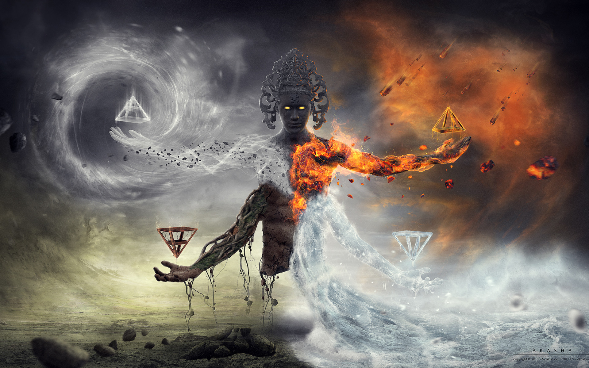 Water, Air, Fire, Earth, Ether, Five Fantasy Elements