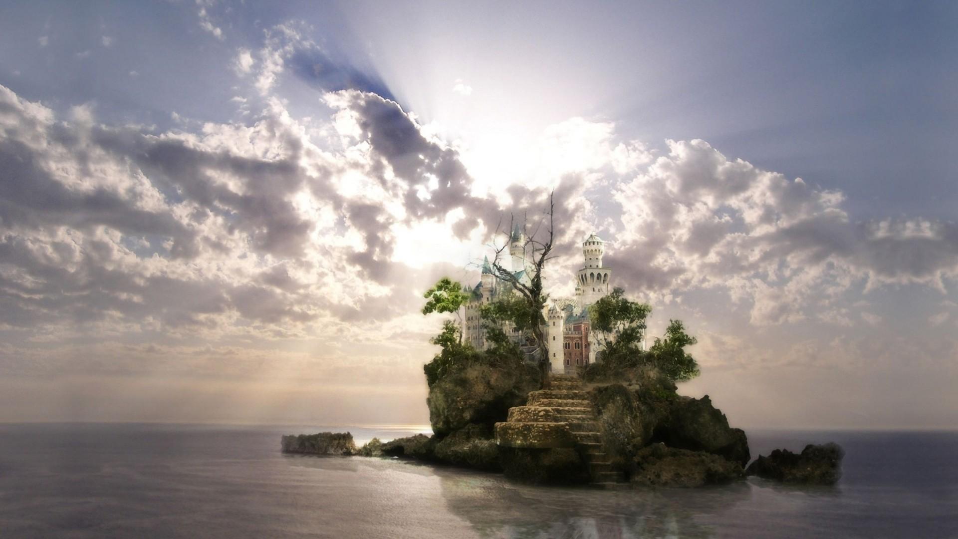 Clouds Fantasy Island wallpaper thumb