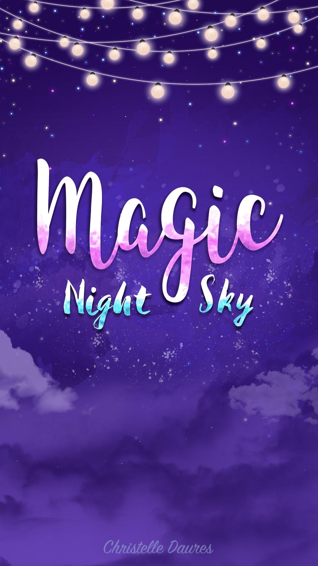 iphone fond ecran magic night sky crecre wallpaper ipad