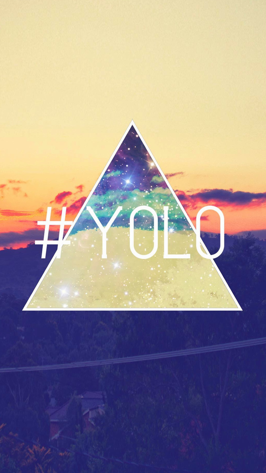 YOLO You Only Live Once Retro iPhone 6 wallpaper