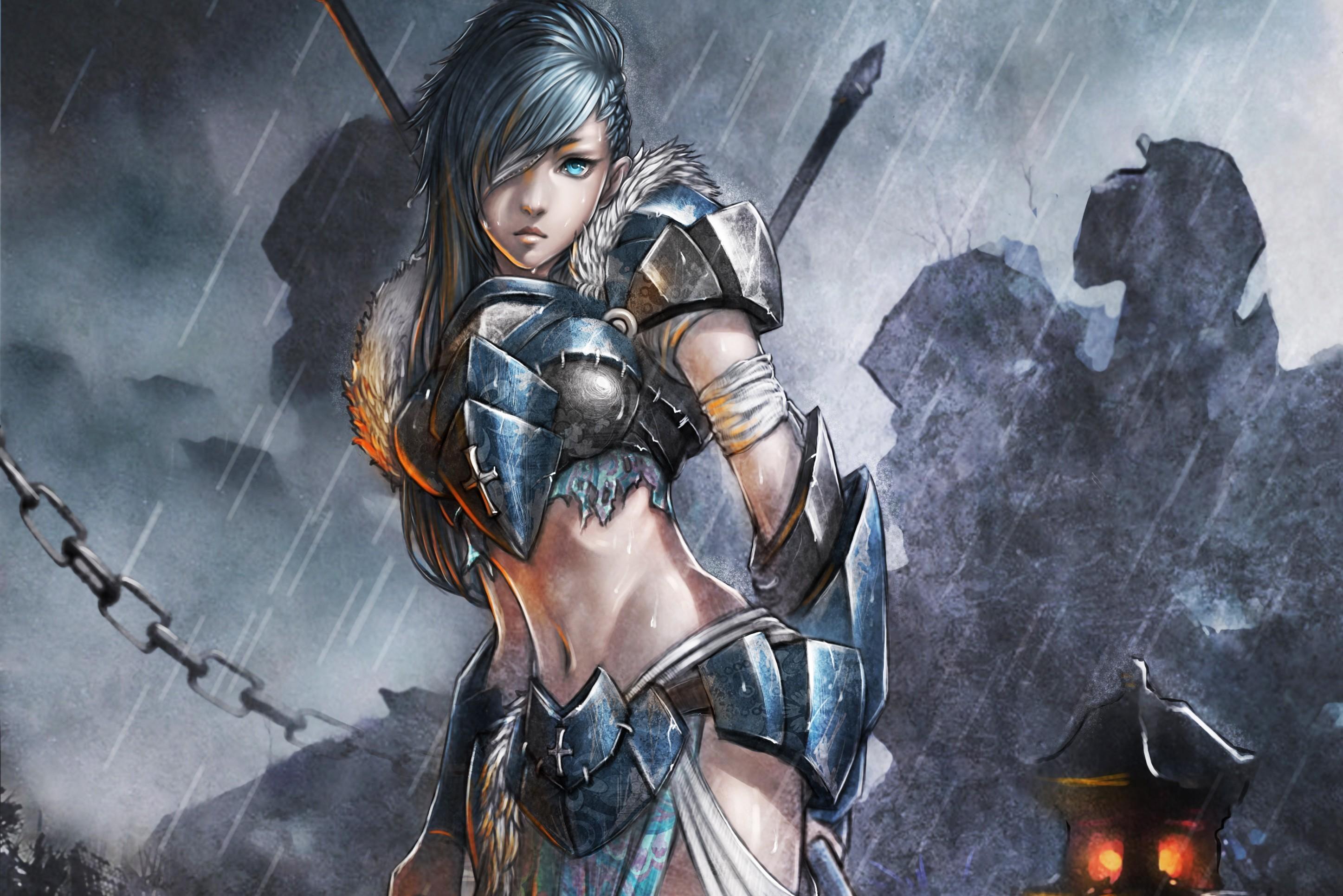 Fantasy Sword Woman Woman Warrior · HD Wallpaper   Background ID:263623