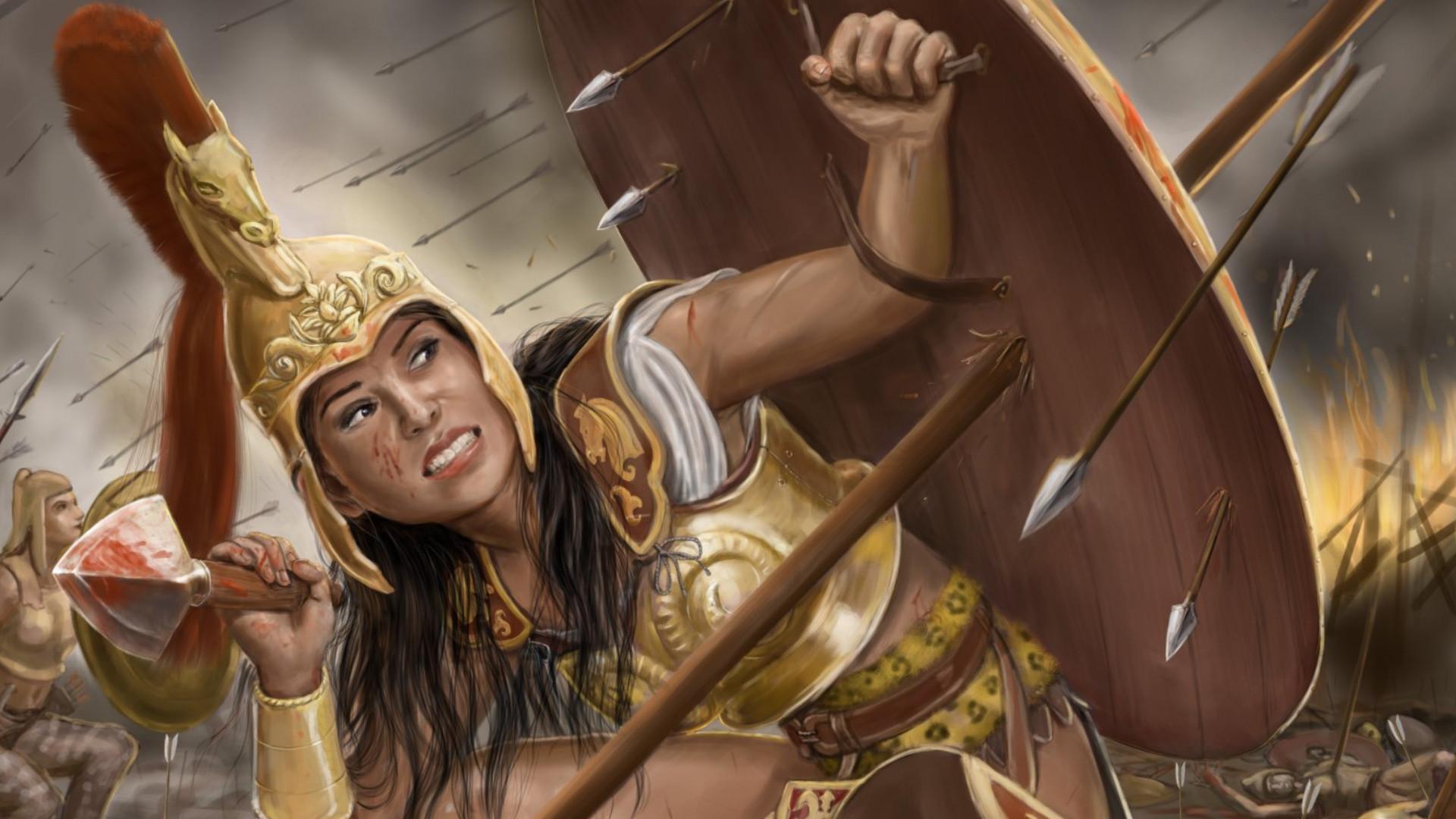Women Warrior Computer Wallpapers, Desktop Backgrounds   .