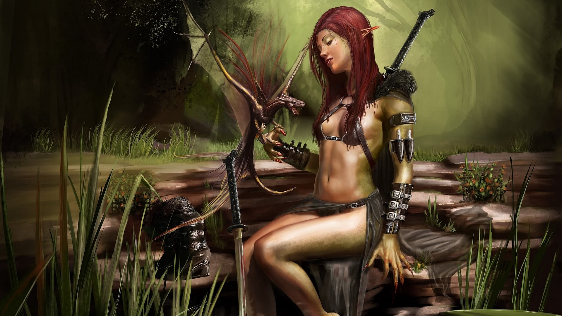 Women Warrior.   fantasy women warrior Wallpaper Backgrounds