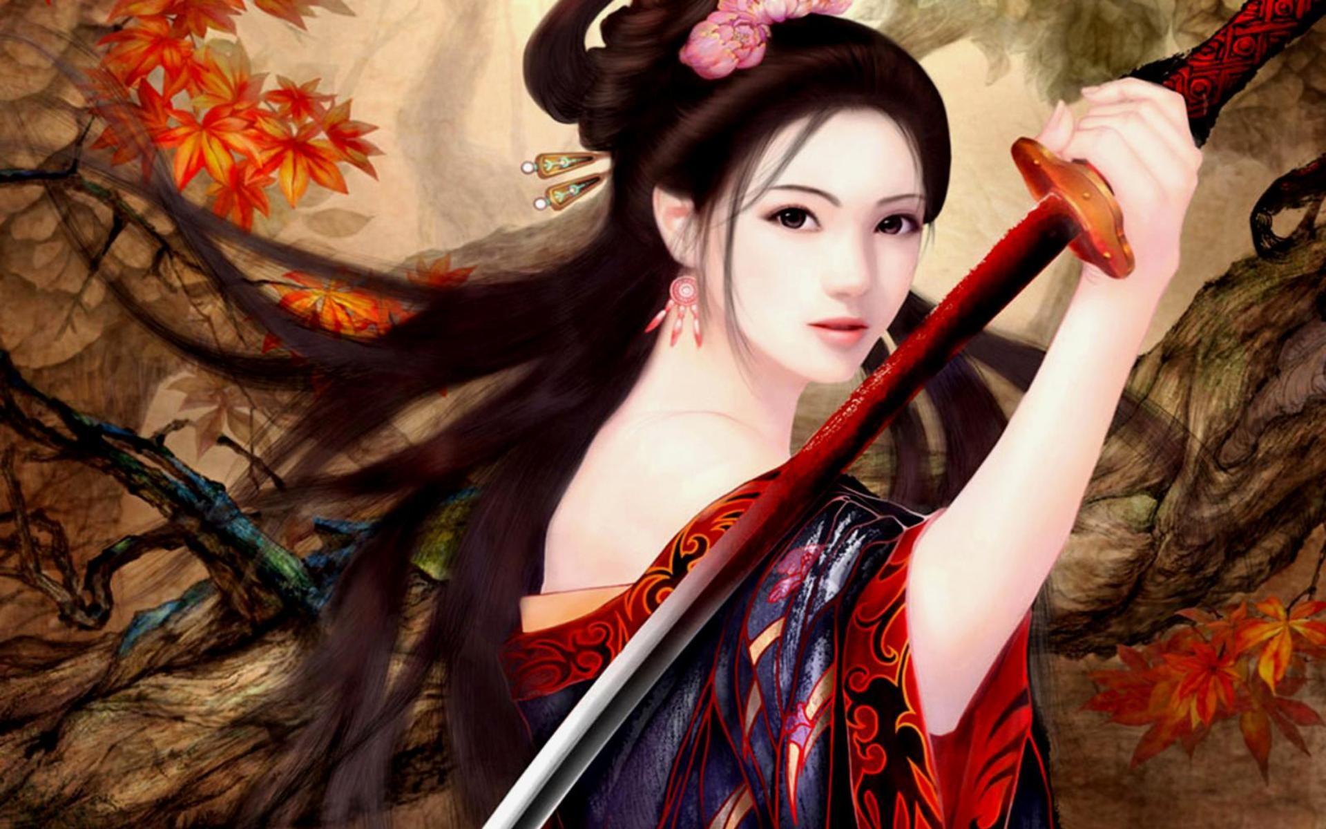 Anime Female Warrior Wallpaper Beautiful warrior
