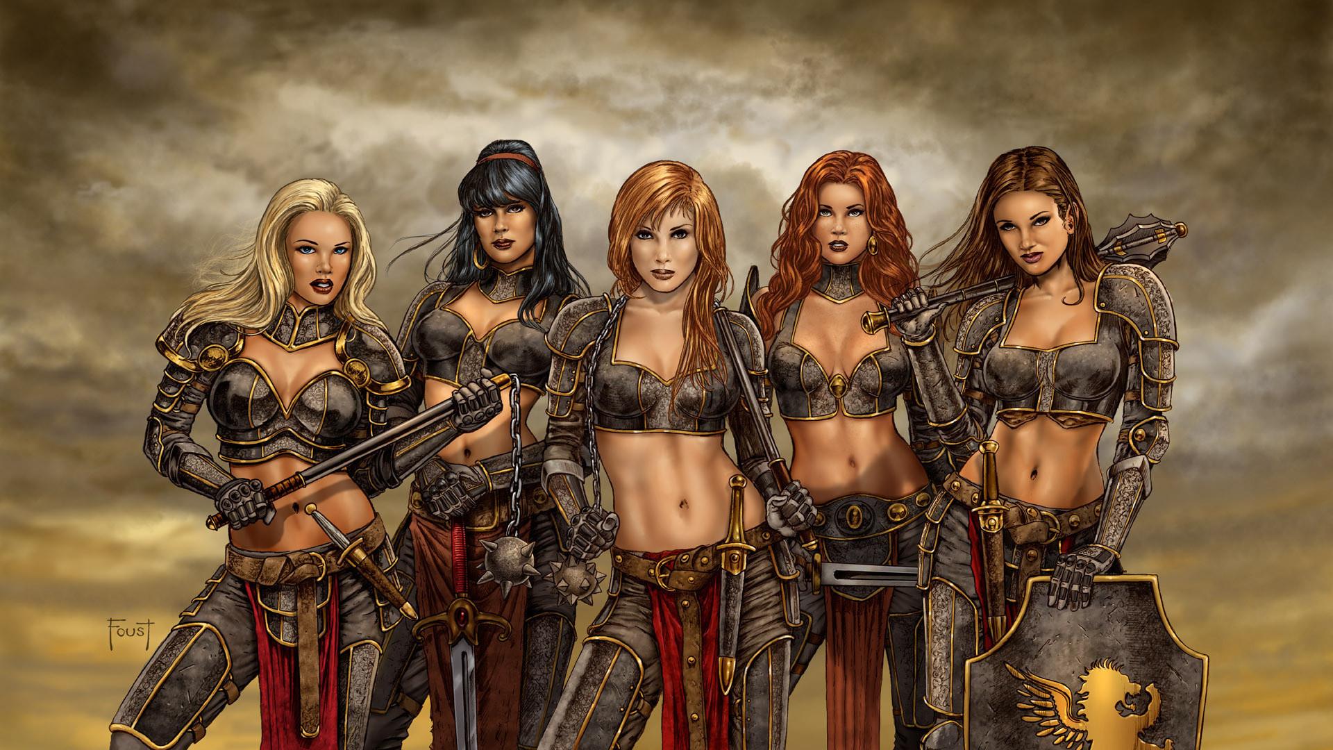 Fantasy – Women Warrior Warrior Wallpaper