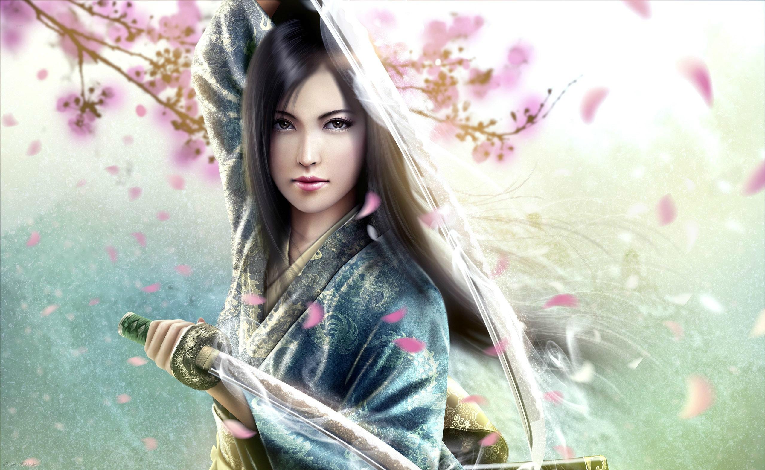 Dagger Fantasy Girl Warrior Weapon White Hair Woman · HD Wallpaper    Background ID:152076