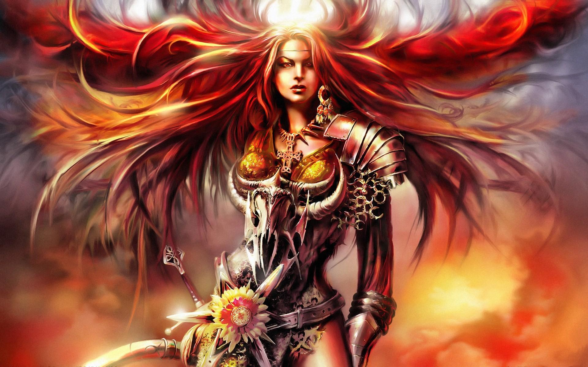 dragon warrior princess armor   free Fantasy girl – Warrior wallpaper  1920×1200