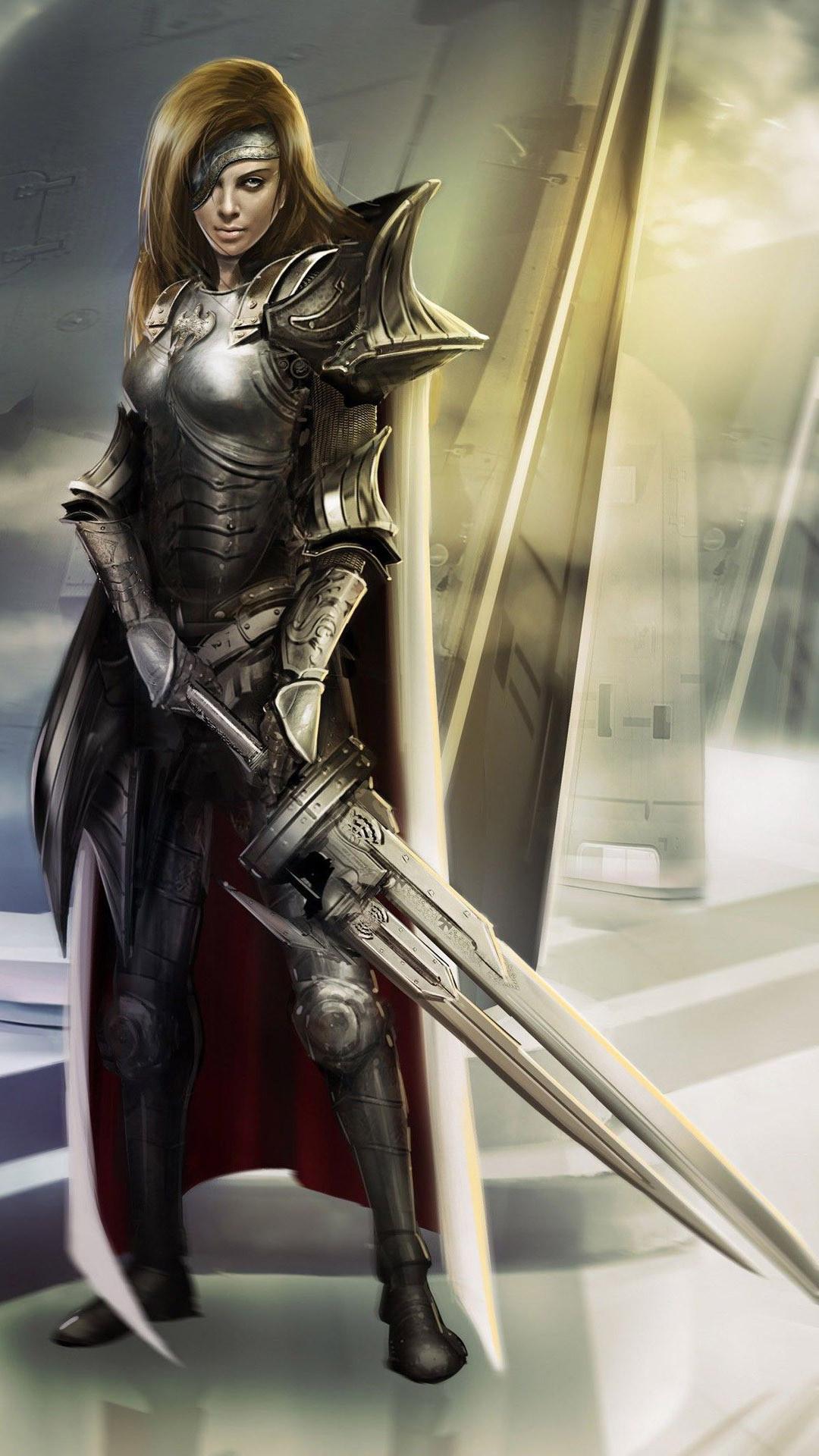 … Woman warrior Fantasy mobile wallpaper