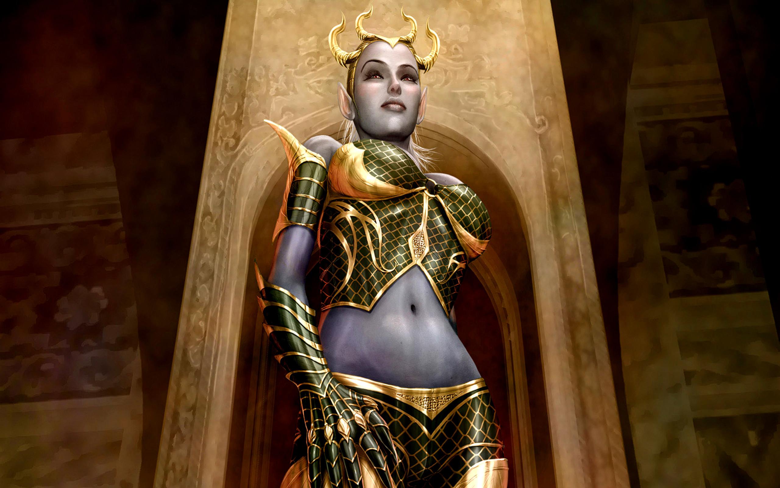 Dark Demon Fantasy Warrior Weapon · HD Wallpaper   Background ID:113358