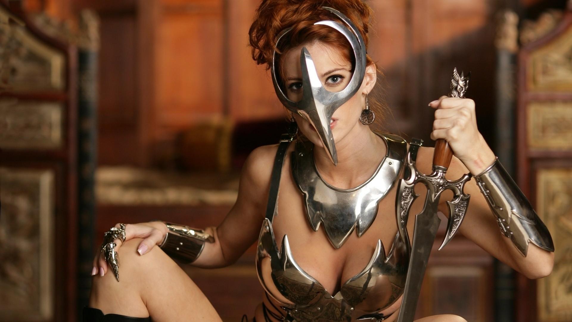 Free warrior cosplay wallpaper background
