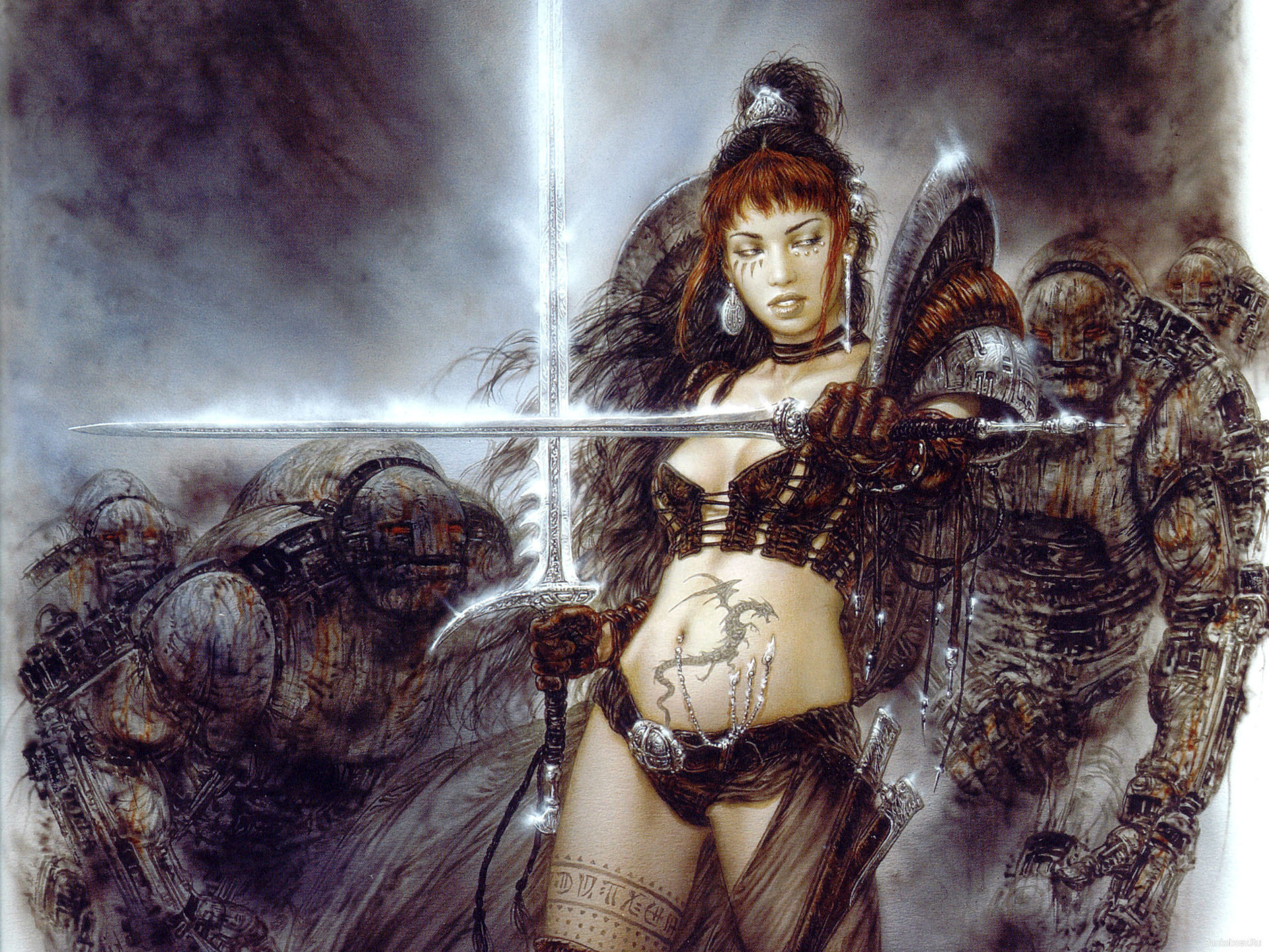 Luis-Royo Royo fantasy other warriors females weapons swords other wallpaper      22417   WallpaperUP