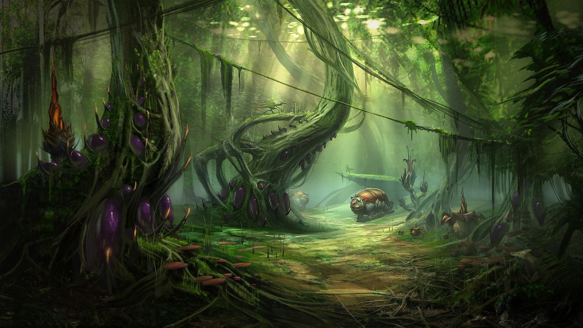 nature jungle forest planets fantasy art alien landscapes alien wallpaper  Best Wallpapers,Top Wallpapers,Wallpapers for free,Desktop Wallpaper, HD  Wallpaper