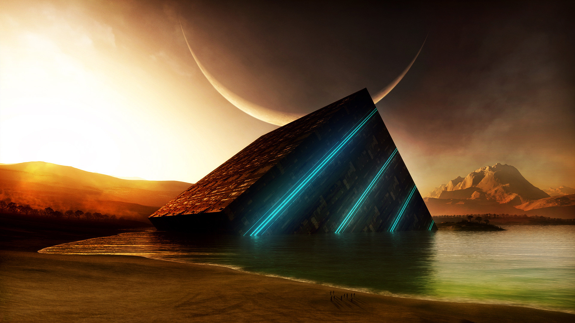 Sci Fi Landscape Wallpaper Desktop Background #tdj