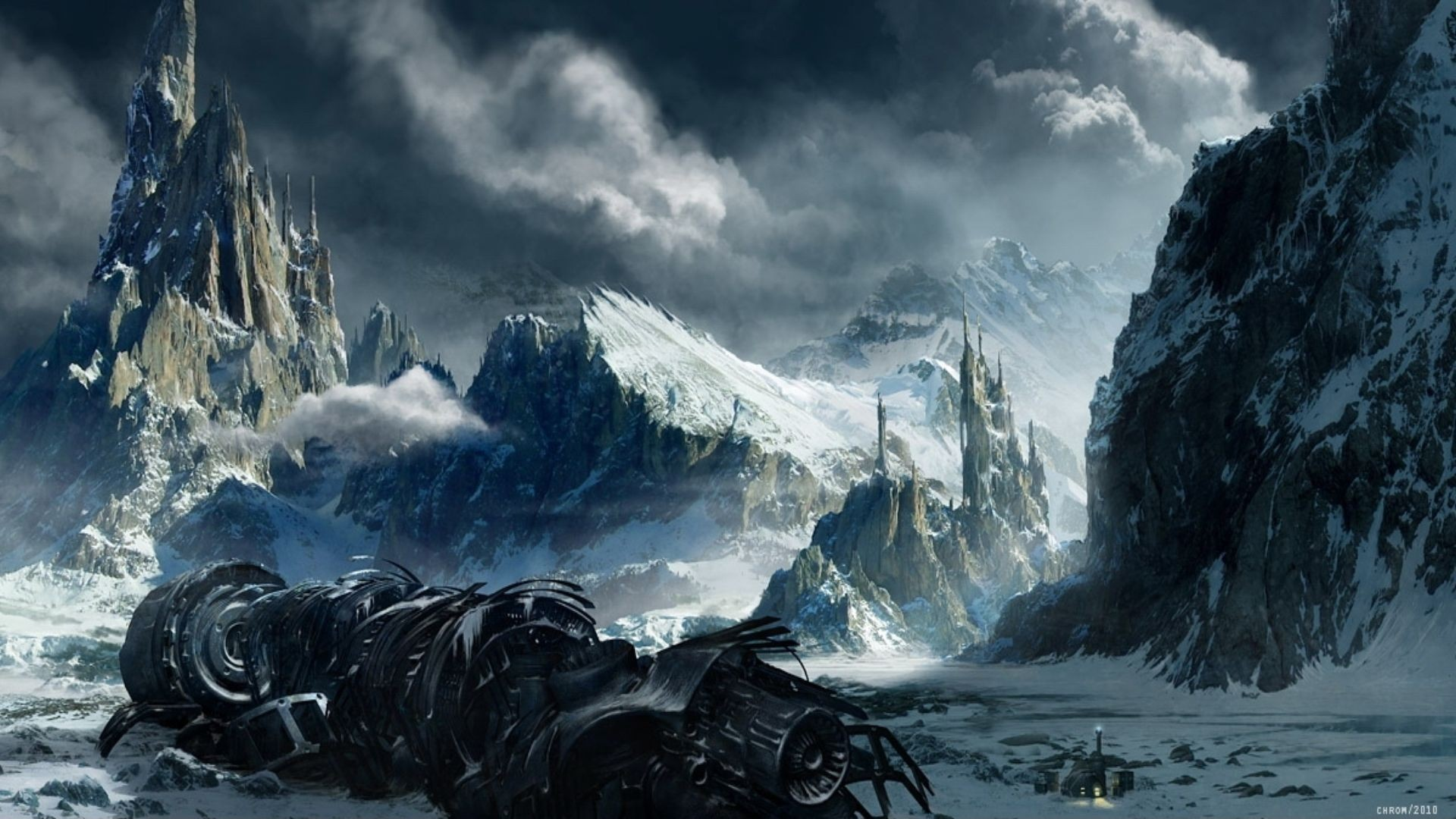 Sci-Fi Landscape Wallpaper | fantasy landscapes wallpapers images wallpaper  1920×1080