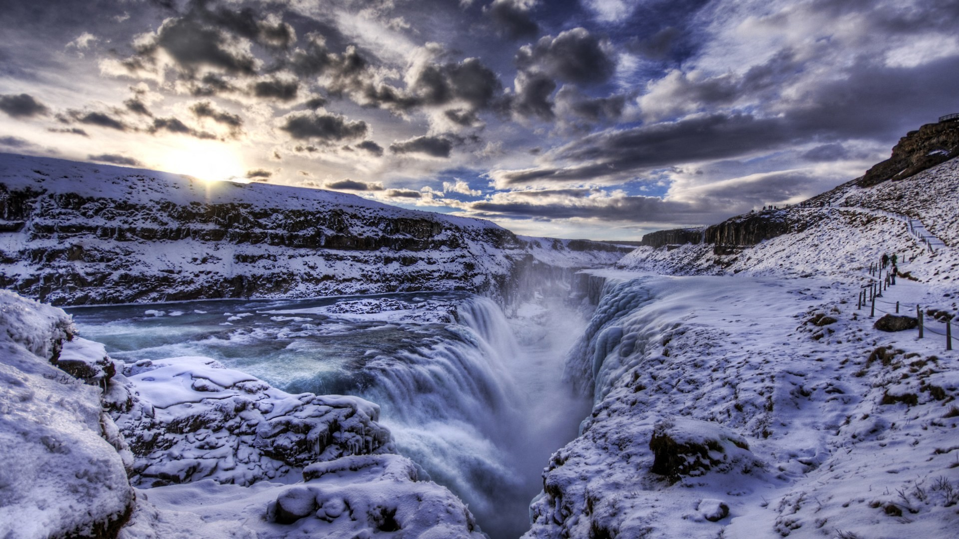 Iceland-Iceland features some of the most alien landscapes in the world,  from huge, partially frozen waterfalls, to the Northern Lights and insane  sunsets …