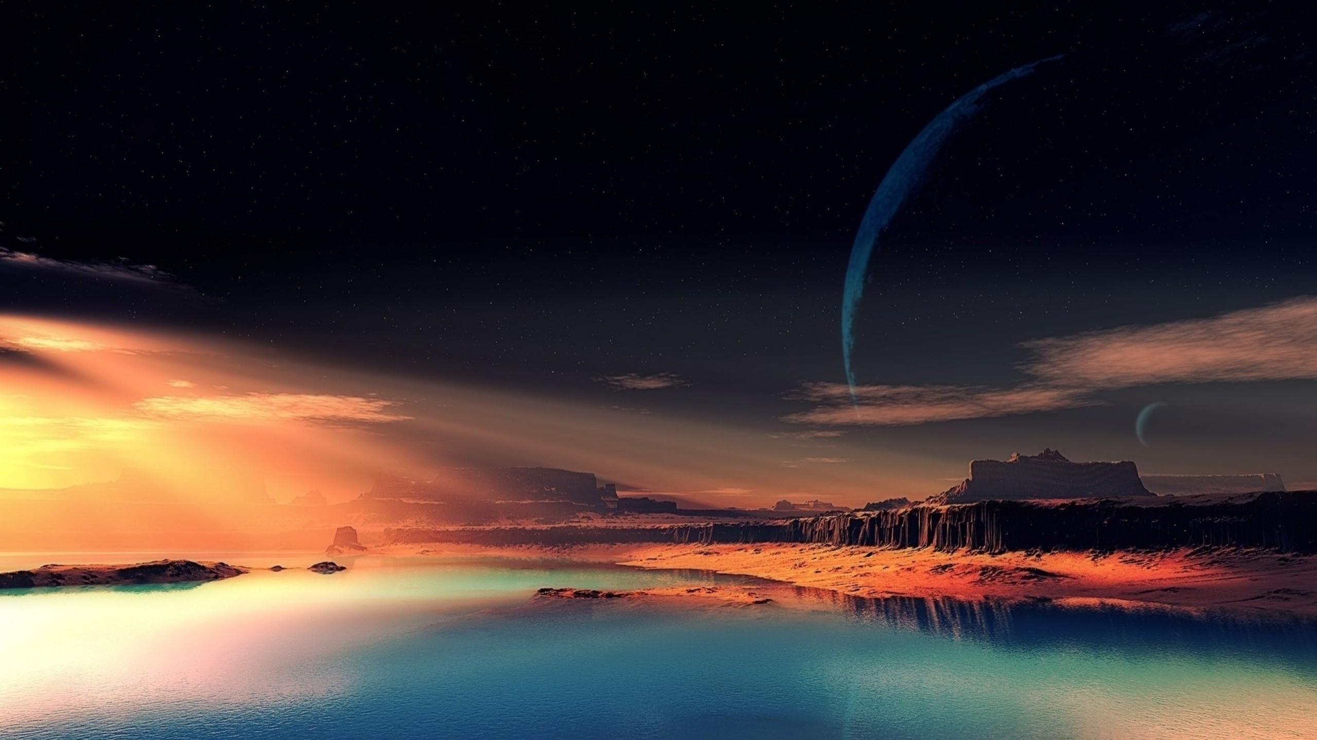 Wallpaper nature, night, space, beautiful