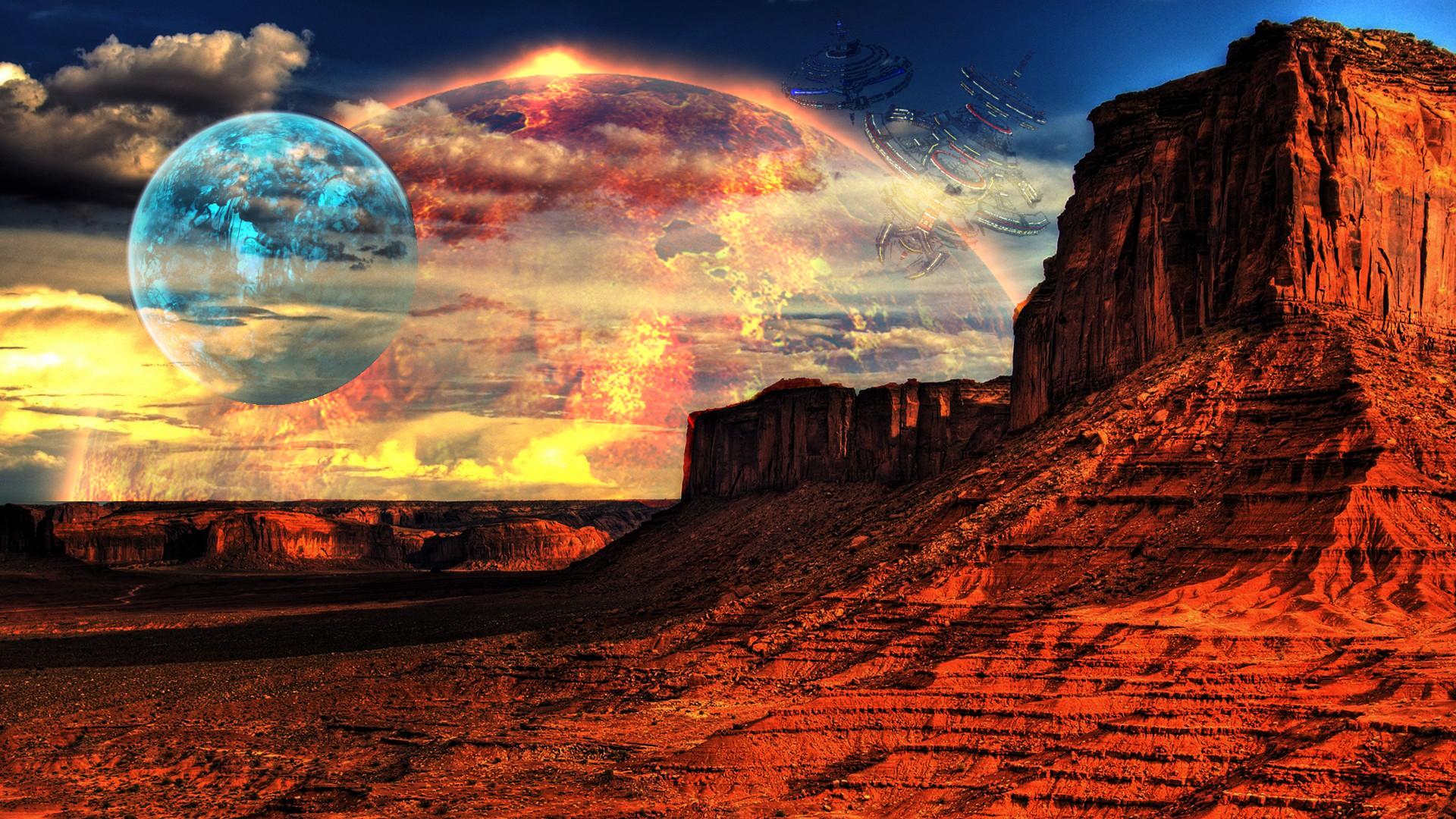 … Alien Landscape (16:9 version) by Soldgineer