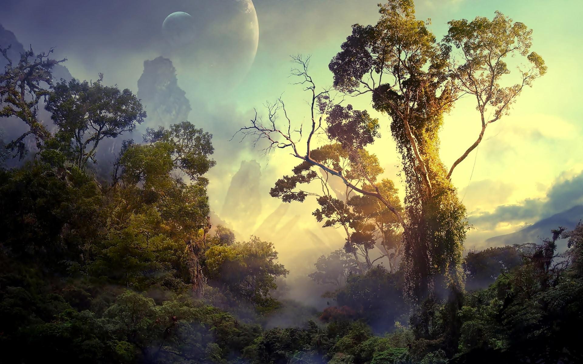 In the alien jungle