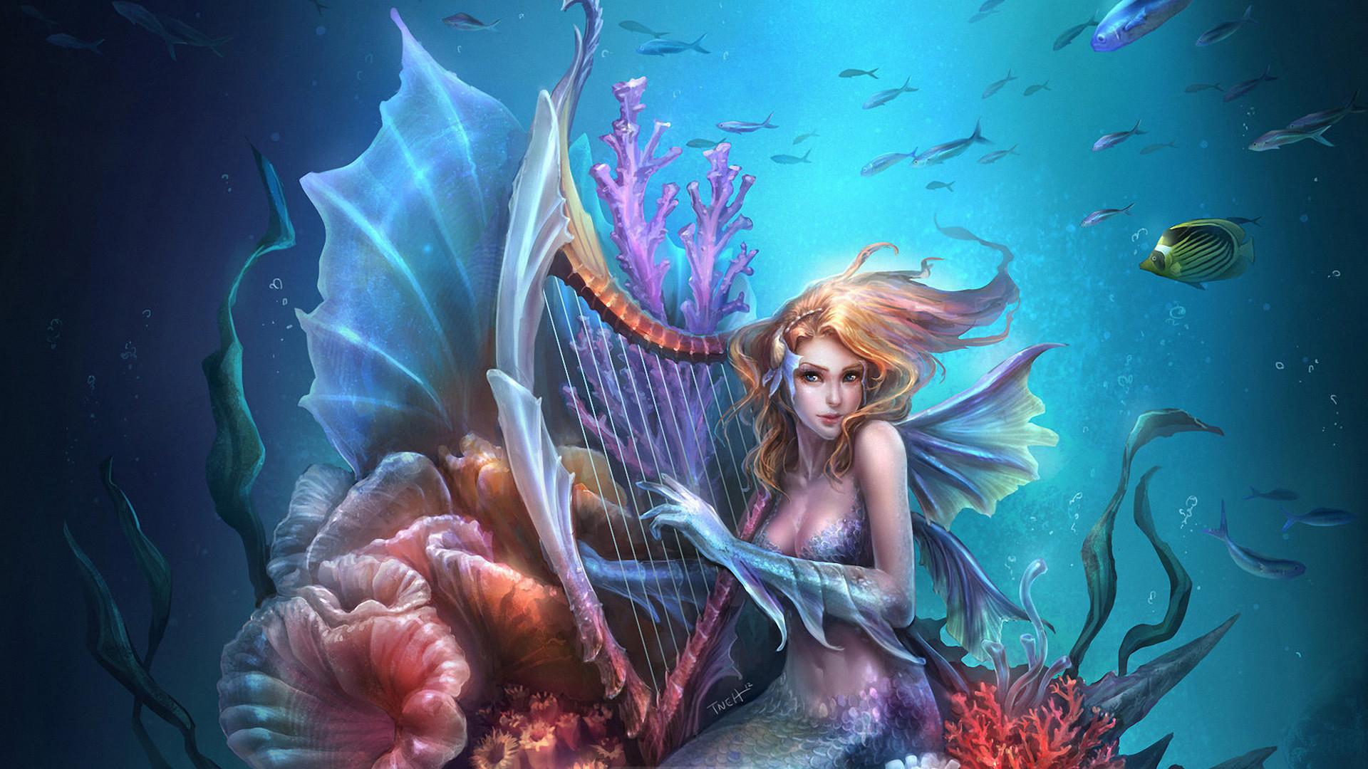 Fantasy mermaid art wallpaper     29103   WallpaperUP