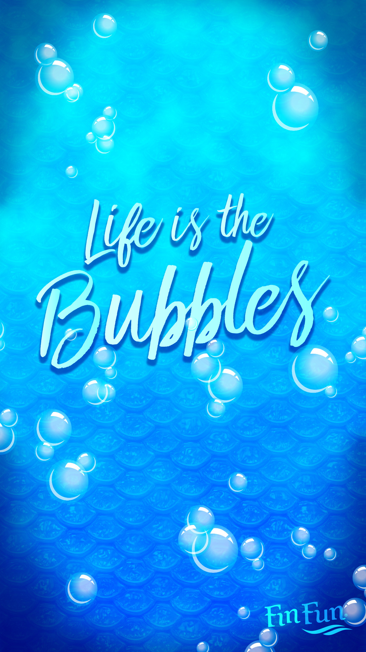 """""""Life is in the bubbles"""" mermaid wallpaper for your phone or tablet.  Download"""