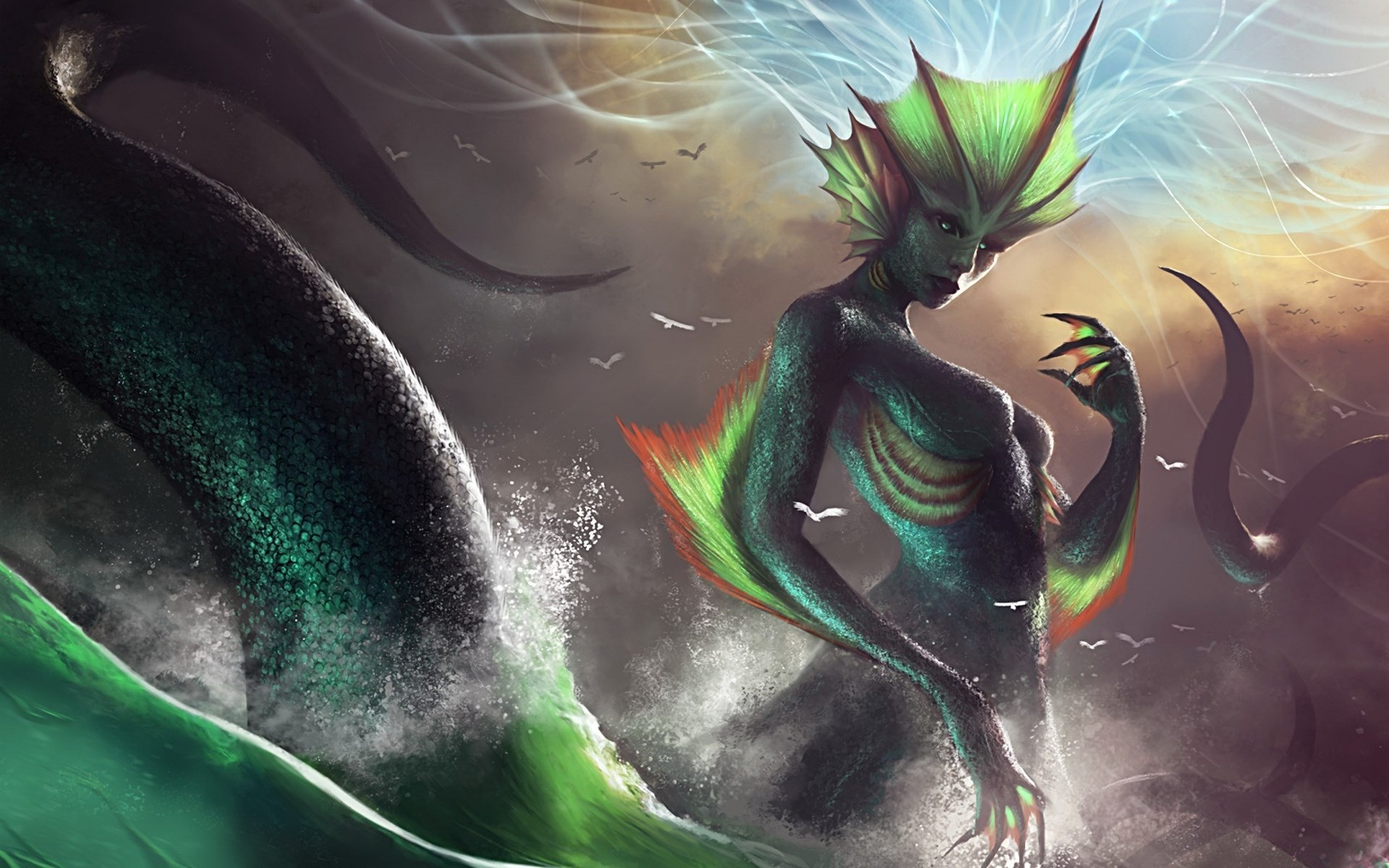 free screensaver wallpapers for mermaid. Free download mermaid