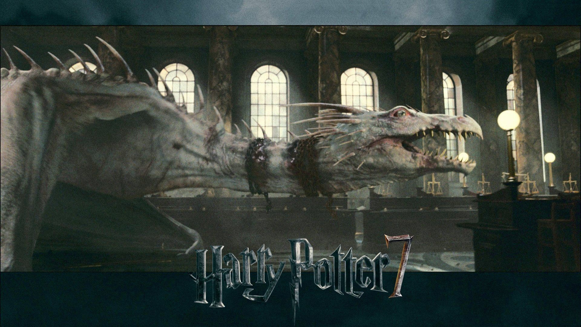 … Harry Potter Deathly Hallows Dragon Wallpaper. Download