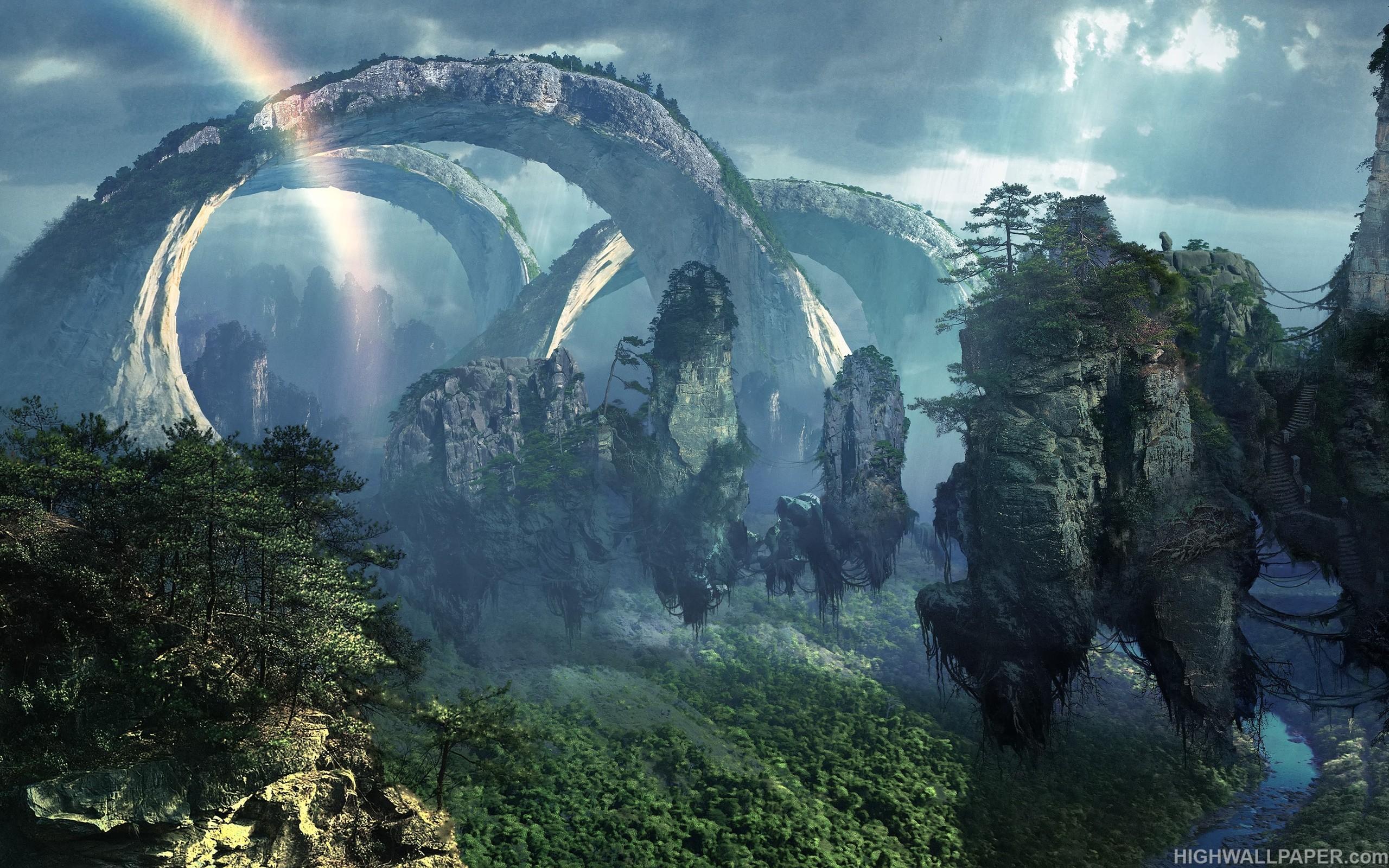 Fantasy Alien Planet Jungle